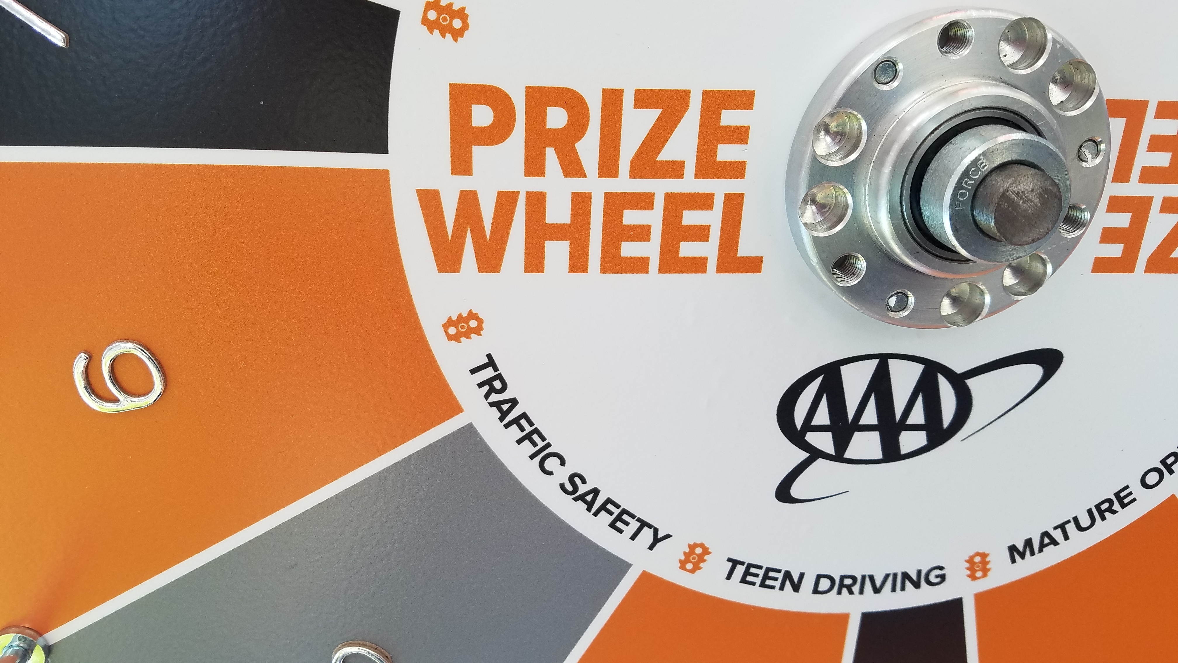 AAA Teen Driver Safety Prize Wheel Logo