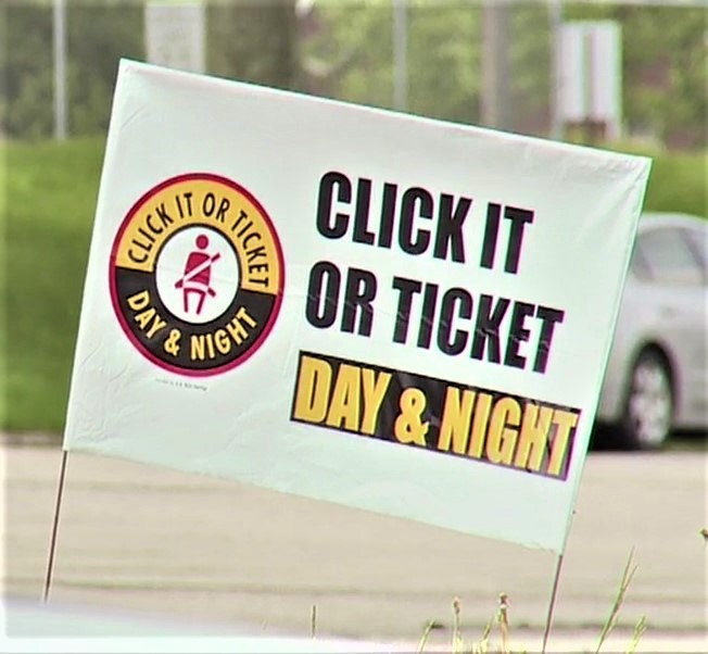 Click It Or Ticket Yard Signs Logo